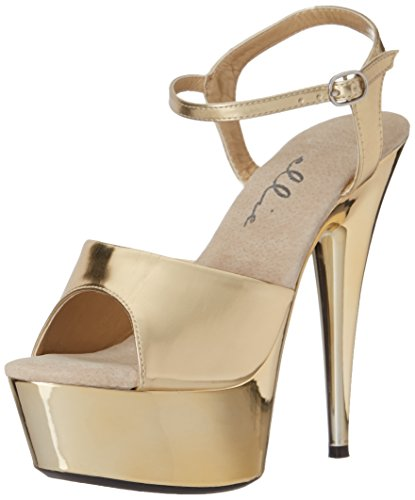 Ellie Shoes Women's 609-CHROME, Gold, 9 B US