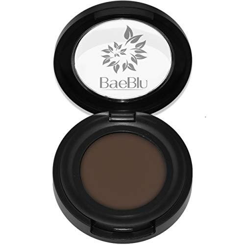 Best Organic 100% Natural Non-GMO Vegan Eyebrow Tint Pomade Wax, Made in USA by BaeBlu, Dark
