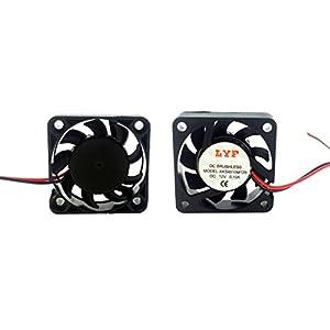 YXQ 40x40x10mm Coolant Fan for Desktop Computer Case 12V 5 Pcs