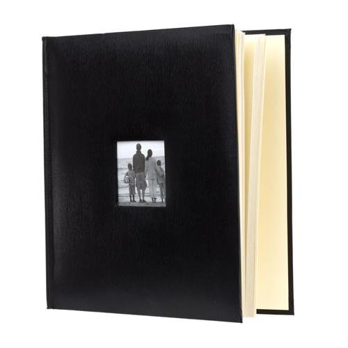 KVD Kleer-Vu Deluxe Albums, Leatherette Collection, 500 photos, Photo Album Window Frame on Front Cover, Black 90734