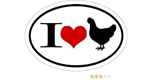 ROOSTER HEART Vinyl Decal Sticker Car Window Wall Bumper Animal Chicken Bird