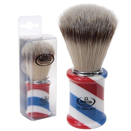 Omega Hi Brush Barber Pole Shaving Shave Soft High Tech S...