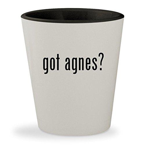 got agnes? - White Outer & Black Inner Ceramic 1.5oz Shot Glass - Seedhouse 1 Tent