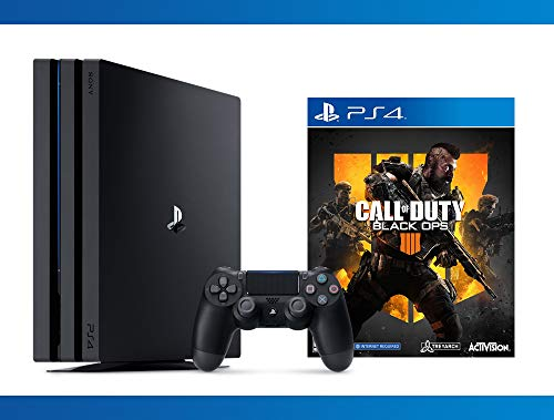 PlayStation 4 Pro 1TB Console + Call of Duty : Black Ops 4 + NBA 2K17 Bundle ( 3 - Items )