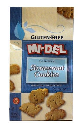 Mi-Del Wheat Free Arrowroot Animal Cookies, 8 Ounce -- 12 per (Mi Del Gluten Free Cookies)