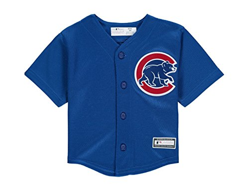 Cubs Onesie Chicago (Chicago Cubs Alternate Blue Cool Base Infant Jersey (infant 18 months))