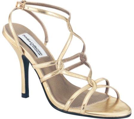 Dyeables Women's Runway Sandal,Gold Metallic Polyurethane,9.5 M
