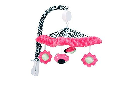 Baby Girl Zahara Zebra Print Musical Mobile by Trend-Lab