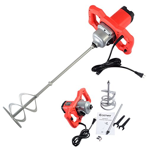 New Electric Mortar Mixer 1600W Dual High Low Gear 6 Speed Paint Cement Grout by Unknown