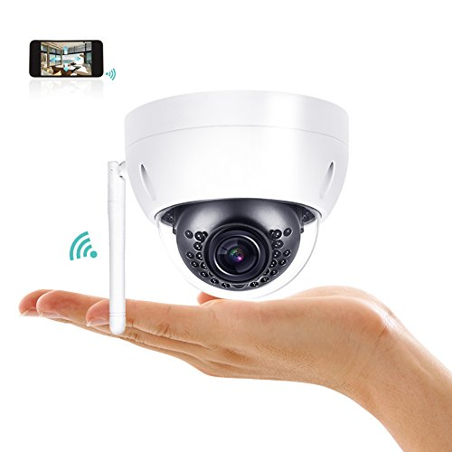HDView (DH Series) PTZ Camera, Network Wireless Camera WiFi IP PoE Mini Dome Outdoor 3MP HD Home Security Camera with Motion Dection,16x Digital Zoom,98ft IR Night Vision,IP67,IK10 Vandalproof, ONVIF