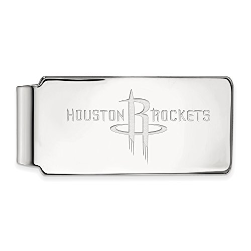 NBA Houston Rockets Money Clip in 10K White Gold by LogoArt