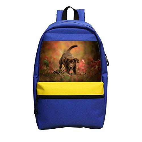 Cute Dog Labrador Retriever High Capacity Canvas School Backpacks for Student (Labrador Retriever Stationery)