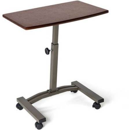 Seville Classics Mobile Laptop Desk Cart, Rich Cherry,Unisex,40mm Locking caster wheels - Mobile Workspace Cart