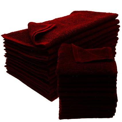 GT 12 nuevo burdeos salón toallas Dobby Premium hilado y toallas de mano 16 x 27