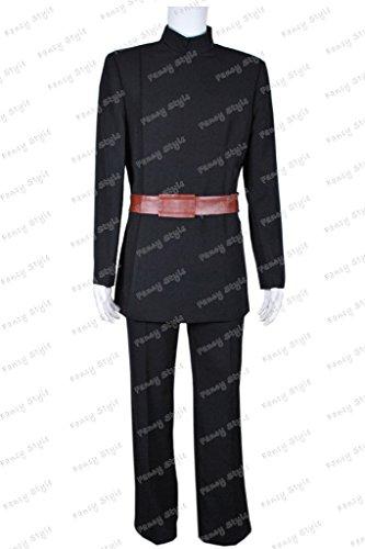 Star Wars AOTC Count Dooku Cosplay Costume Uniform Black XL (Count Costume)