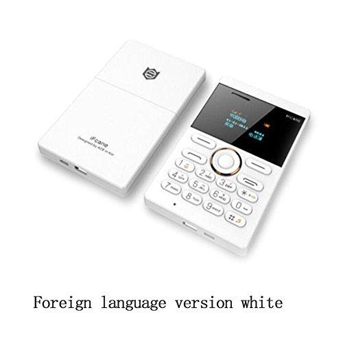 Unlocked Mini Card Phone Bluetooth 2.0 MP3 FM Alarm (Gold) ()
