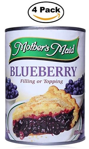 - Blueberry Pie Filling & Topping (Pack of 4-15oz) 60 ounces Total - Makes 2 Blueberry Pies