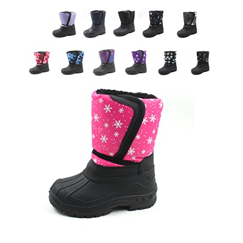 Ska-Doo Cold Weather Snow Boot 1319 Pink Snowflakes Size 10 by SkaDoo