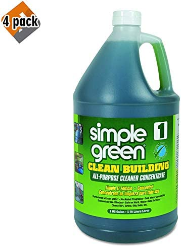 [해외]Simple Green Industrial SMP11001 Clean Building All-Purpose Cleaner Concentrate 1gal Bottle - 4 Pack / Simple Green Industrial SMP11001 Clean Building All-Purpose Cleaner Concentrate, 1gal Bottle - 4 Pack