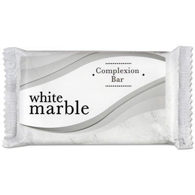 White Marble - Individually Wrapped Basics Bar Soap, 1.5oz Bar, 500/Carton 06010 (DMi CT