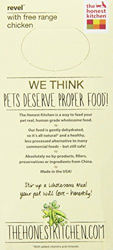 183413004497 - The Honest Kitchen Revel: Natural Human Grade Dehydrated Dog Food, Chicken & Organic Grains,2 lbs (Makes 8 lbs) carousel main 3