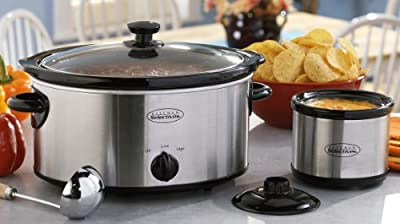 Kitchen Selectives 5 - qt. Stainless Steel Slow Cooker with BONUS 20 - oz. Crock by SELECT
