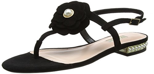 Dune Black Nelles Sandals T Women's Black Bar ffYwrCq