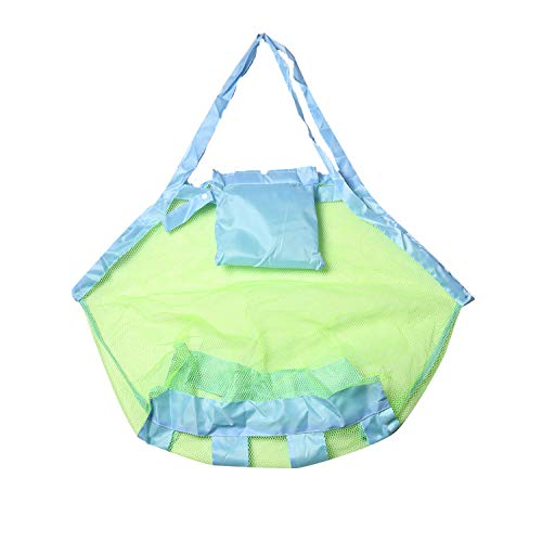 Nimoco Beach Mesh Storage Large Tote Bag ,Perfect for Carrying Children's Toys ,Sand Away for Beach (Blue)