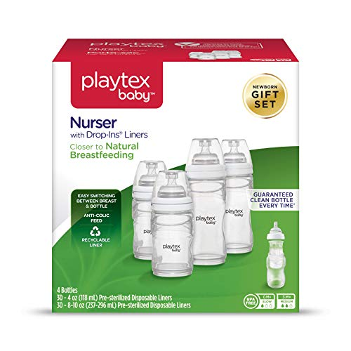 Playtex Baby Nurser Baby Bottle with Drop-Ins Disposable Liners, Closer to...