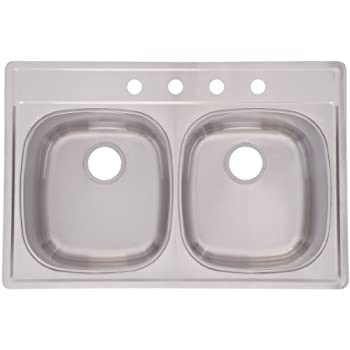 Franke DSK954 18BX Double Bowl Stainless Steel 33x22in. Topmount Sink