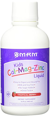 MRM Kids Cal-Mag-Zinc Liquid Metabolic Response Modifiers, Tropical Berry, 16 Fluid Ounce