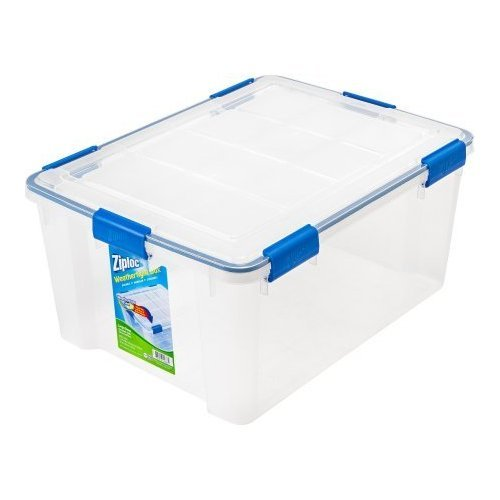 4-Piece Large Deep Weathertight Storage Box Set by Ziploc