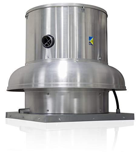 (Belt Drive Centrifugal Downblast Roof Mounted Exhaust Fan with Emergency Disconnect Switch 24 3/4