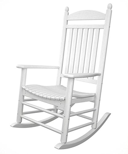 Recycled Earth-Friendly Kennedy Outdoor Patio Rocking Chair - White