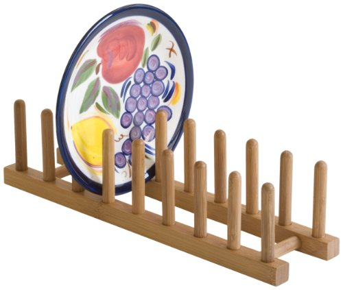 Lipper International 887 Bamboo Plate Rack/Pot Lid Holder