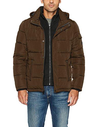 Calvin Klein Men's Alternative Down Puffer Jacket with Bib, camouflage, X-Large Calvin Klein Puffer Coat'