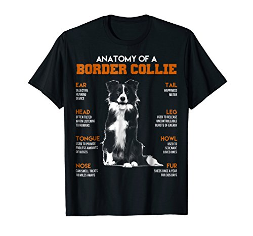 Anatomy Of A Border Collie Dogs T Shirt Funny Gift ()