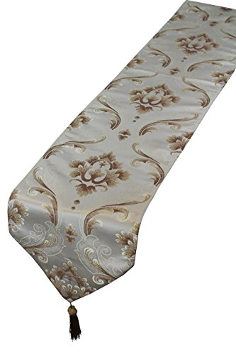 Masterpiece Collection Side Table (Violet Linen BOUTIQUE RU VL-68835-BOUTIQUE-RU-GL Vintage Collection Luxurious Boutique Table Runner, Gold, 13