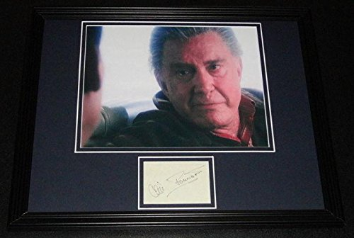 Cliff Robertson Signed Framed 11x14 Photo Poster Display Spider-Man Uncle Ben - Autographed College Photos