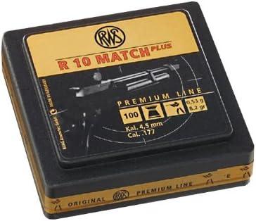 RWS 2135264 R 10 Match Plus - Munición para rifles de aire comprimido (100 balines, calibre 4,5 mm)