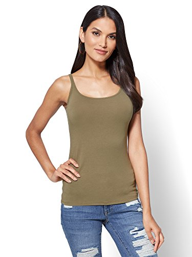 New York & CO. Women's Skinny Cotton Tank Top Small Union Square - Square Union Shops At