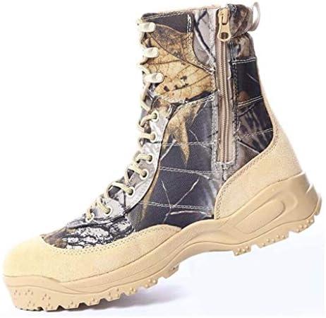 本革と軍事のためにオックスフォード布モトリーハイトップレースアップ防水耐摩耗ノンスリップのために軍の戦術的なブーツ用アサルトブーツ (色 : マルチカラー, サイズ : 27 CM)