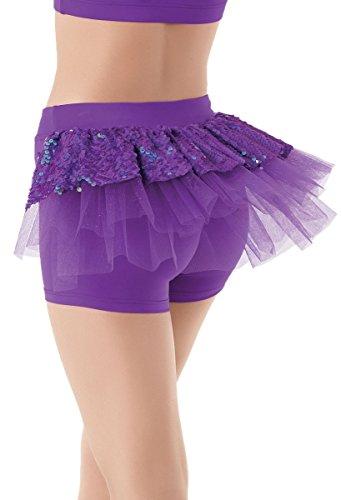 Ultra Sparkle (Balera Dance Shorts Iridescent Ultra Sparkle Back Bustle)