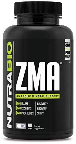 NutraBio ZMA Supplement - 90 Capsules