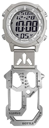 Tool Time Dakota - Dakota Digital Multi Tool Carabiner Clip Watch (Silver)