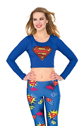 (Rubie's Costume Co Women's Top, Supergirl,)