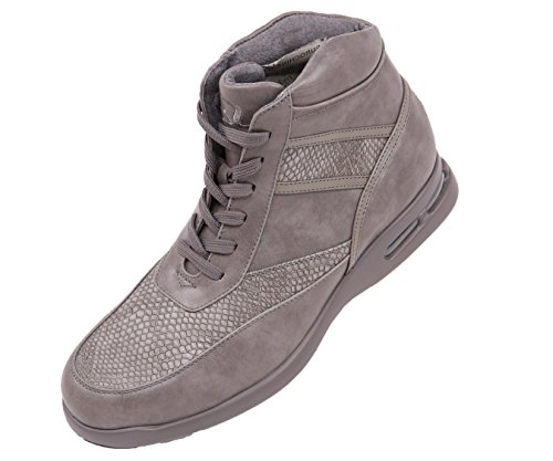 (Sio Smooth and Embossed Mens Faux Leather High Top Lace-up Athletic Boot with Snake Print)