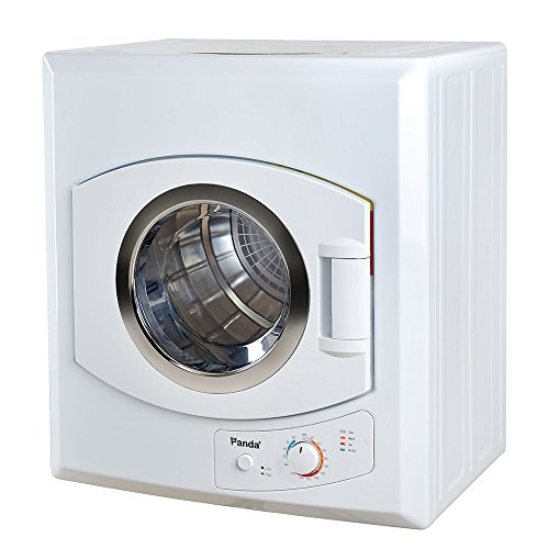 (Panda 2.65 cu.ft Compact Laundry Dryer, White)