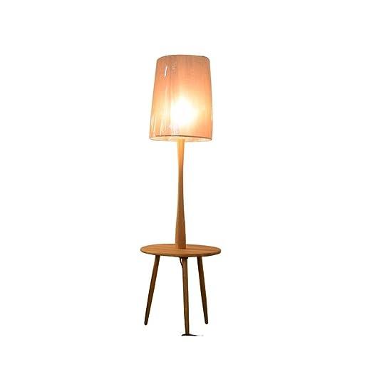 Maciza Salón Floor E27 de de Lámpara pie Madera lamp Nordic thdxsCQrB