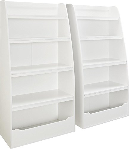 Ameriwood Home Hazel Kids' 4 Shelf Bookcase, White by Ameriwood Home (Image #3)